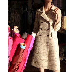 Erica Tanov Hedra Raw Silk Coat size 2  Stunning!!
